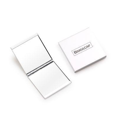 Espelho duplo em alumínio - med. 60x 60x 7mm