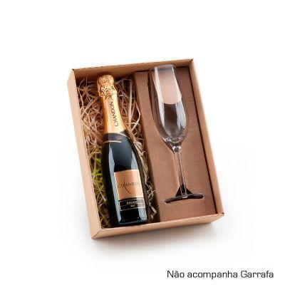 Marca Laser - Kit champanhe personalizado, com caixa para presente.