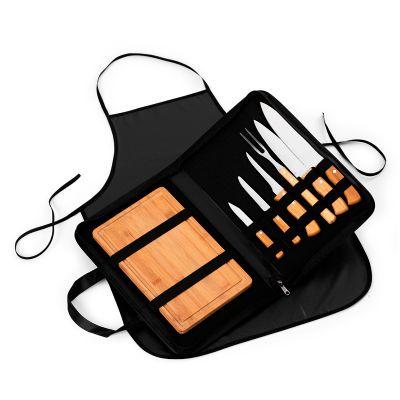 Marca Laser - kit churrasco personalizado - Estojo maleta para churrasco com 9 peças.