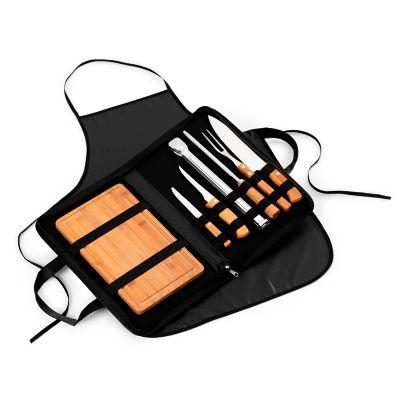 Marca Laser - Kit churrasco personalizado - Estojo maleta para churrasco 9 peças.