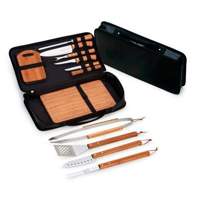 Marca Laser - Estojo maleta para churrasco/caipirinha 14 peças em material sintético - med. 370x 230x 15mn