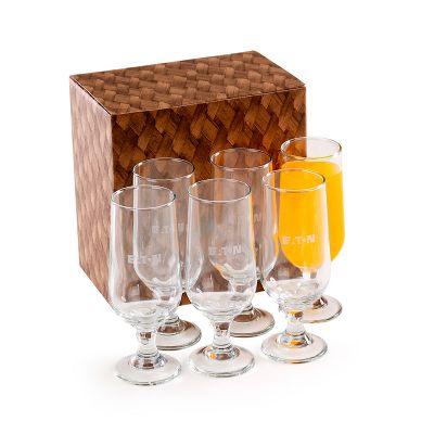 Marca Laser - Conjunto com 6 copos de vidro, para suco/cerveja 300ml