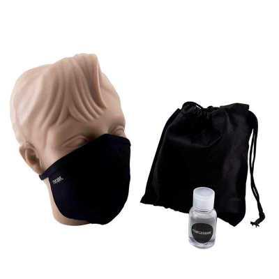 Kit Higiene com Máscara e Álcool em gel