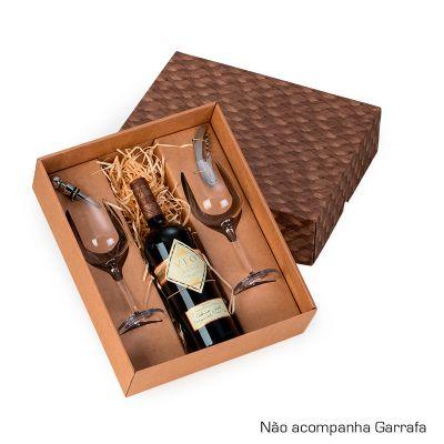 Marca Laser - Kit vinho personalizado, com caixa para presente.
