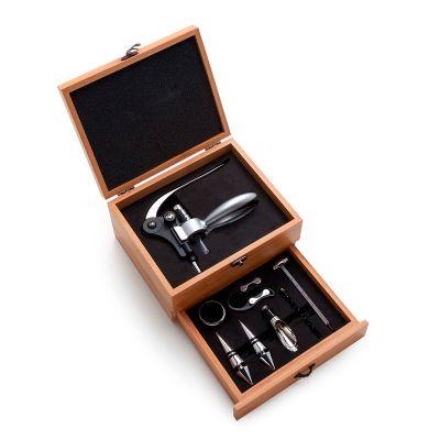 marca-laser - Kit vinho personalizado em caixa de bambu.