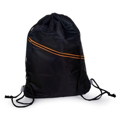 marca-laser - Mochila Fitness confeccionada em nylon na cor preta.