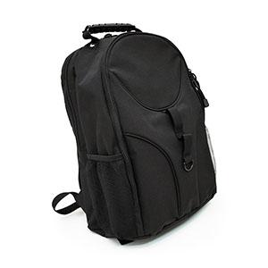 Marca Laser - Mochila Outdoor em poliéster reforçado na cor preta, costurado e rebitado com acabamento emborrachado.Capacidade 30 litros