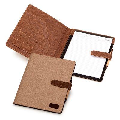 marca-laser - Pasta convenção tamanho A4 confeccionada em tecido ecológico.