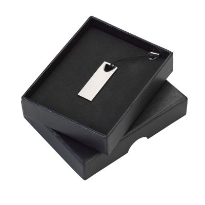 Marca Laser - Pendrive em metal de 8gb em caixa para presente na cor preta.