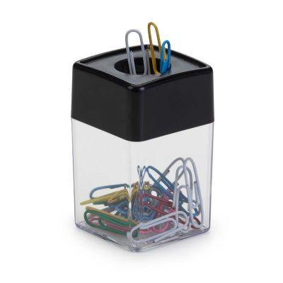 marca-laser - Porta clips magnético de poliestireno na cor preta.