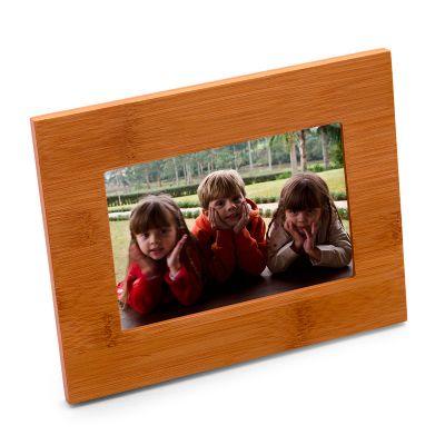 Porta retrato horizontal em bambu. - Marca Laser