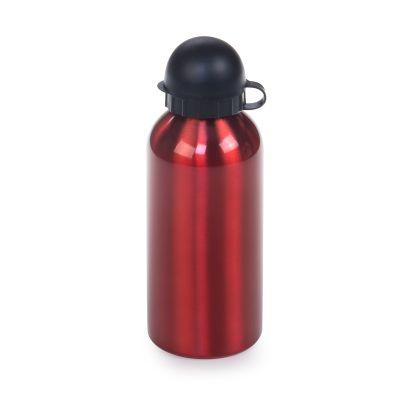 Marca Laser - Squeeze em aço inox vermelho com tampa plástica e bico dosador. Capacidade 600ml
