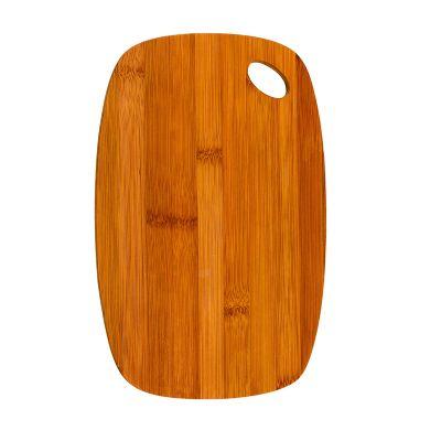 marca-laser - Tábua oval personalizada em bambu - Medidas: 300 x 190 x 10 mm).