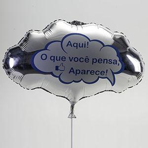 universo-dos-baloes - Balão metálico, formato de pensamento