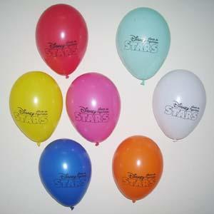 Balão com gravação personalizada.