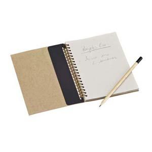 Faber-Castell - Color Eco Note Personalizado - Capa em Kraft 280 g - Caderno com 60 folhas elaboradas com papel reciclato 63 g. Detalhe interno (r�gua de papel).