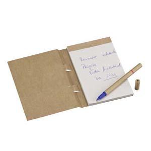 Faber-Castell - Eco Note Personalizado - Capa em Kraft 280 g - Bloco com 100 folhas elaboradas com papel reciclato 63 g. Acompanha 01 Esferogr�fica Kraft Duo.