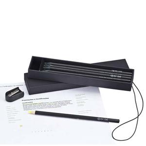 Faber-Castell - Kit Exclusive Personalizado - Kit diferenciado e sofisticado contendo 10 EcoL�pis (9 EcoL�pis grafite com gota e madeira preta e 1 EcoL�pis.