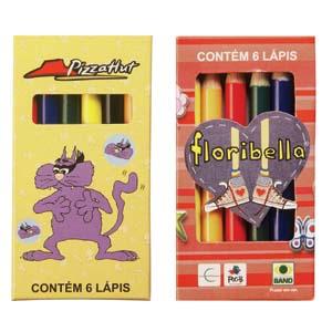 faber-castell - Kit personalizado meio l�pis de cor, estojo em papel cart�o contendo 6 meios l�pis.