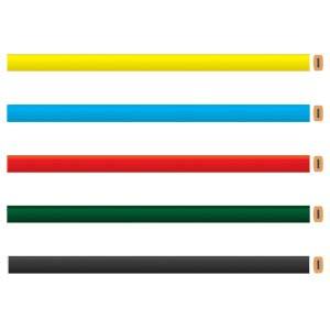 Faber-Castell - L�pis carpinteiro personalizado em diversas cores, n�o apontado com: 175 mm de comprimento, 11 mm de largura, formato retangular e tra�o escuro.