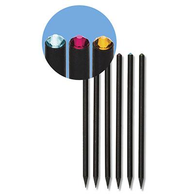 Faber-Castell - Lápis Cristal SWAROVSKI®. EcoLápis grafite HB, acabamento diferenciado em madeira preta, disponíveis em várias cores