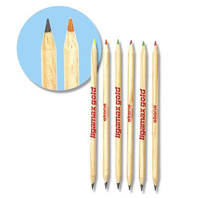 Lápis Bicolor Destaca Texto. EcoLápis Bicolor produzido de madeira reflorestada com certificado FSC.  Exclusivas minas Destaca Texto nas cores fluores...
