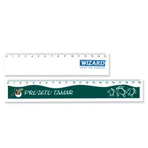 Faber-Castell - R�gua personalizada flex�vel � base de PVC, com 2 tamanhos (20 cm e 15 cm).