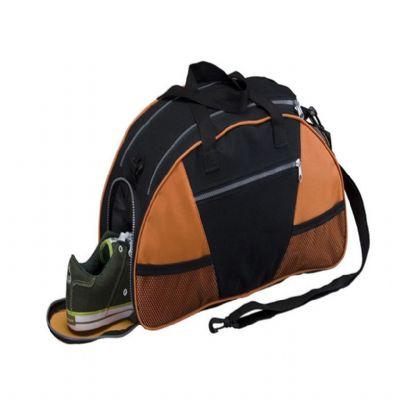 SIMAG Brindes - Bolsa de academia em nylon,1 compartimento inteligente, com separação para objetos secos e molhados, porta calçado e bolso externo com zíper.  Dimensõ...