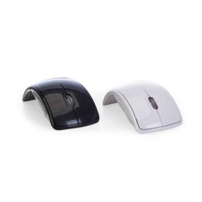 Mouse óptico de tecnologia wireless e retrátil. Mouse anatômico de material plástico resistente, ...
