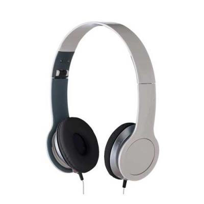 Skill Brindes Promocionais - Fone de ouvido estéreo articulável, protetor em couro sintético com espuma e material plástico inteiro colorido com detalhes prata. Headfone de hastes...