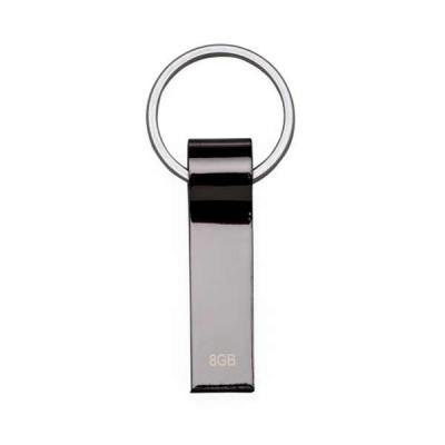 skill-brindes-promocionais - Pen drive metálico de 4GB com pintura grafite espelhado e chaveiro.  Medidas aproximadas para gravação (CxD):  3,3 cm x 2,7 cm  Tamanho total aproxima...