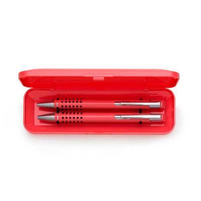 Skill Brindes Promocionais - Conjunto caneta e lapiseira semi-metal e estojo plástico resistente. Estojo não é plano (apenas a parte central), caneta e lapiseira semi-metálicas in...