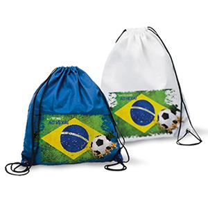 skill-brindes-promocionais - Mochila saco personalizada para Copa do Mundo