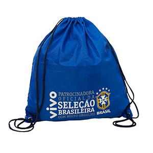 skill-brindes-promocionais - Mochila saco confeccionada em nylon amassado, opção de nylon emborrachado