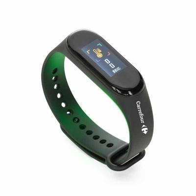 Pulseira inteligente M3. O smartwatch é um relógio fit impermeável com sensor que monitora suas a...