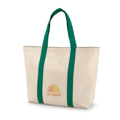 Sacola. 100% algodão canvas: 280 g/m². Bolso bolso frontal e bolso interior com zíper. Com fecho ...
