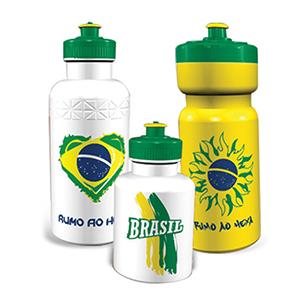 Skill Brindes Promocionais - Squeeze personalizado da Copa do Mundo, vários formatos e cores para sua escolha