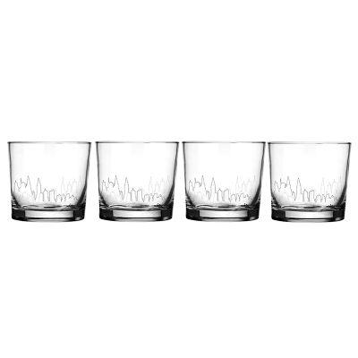 Mãos & Arte - Jogo de copos de whisky.