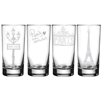 Mãos & Arte - Jogo de copos long drink