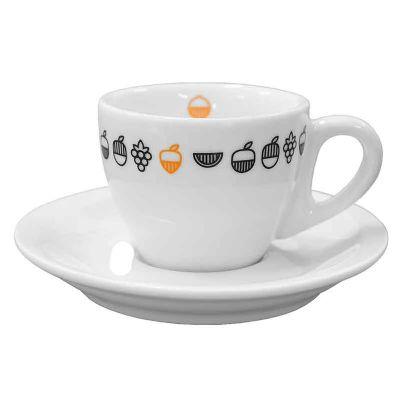 maos-e-arte - Xícara de café coquinho com pires