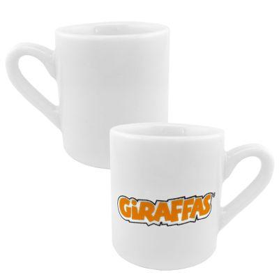 maos-e-arte - Xícara reta de café em porcelana.