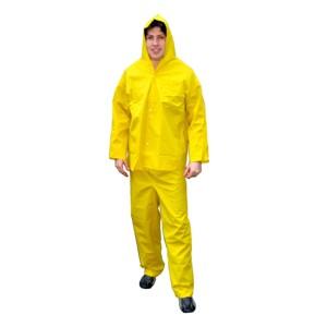 Conjunto de capa de chuva em PVC - Nas cores  amarela e preto ... 97bb2b9b5a69c
