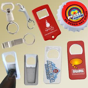 Madson Brindes - Abridores de garrafa metálicos, ou injetados em PVC, em diversas cores e formatos.