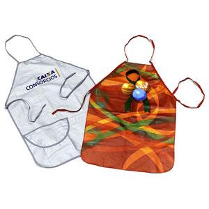 Avental em tecido personalizável com SilkScreen ou Bordado.