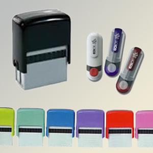 madson-brindes - Carimbo automático de mesa ou bolso nos tipo click ou caneta.