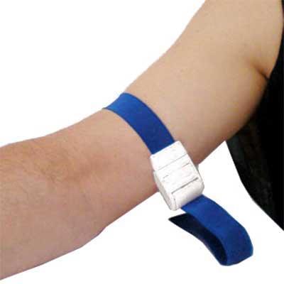 Garrote G-Tech com fita em nylon e algodão, trava personalizável injetada em PVC.