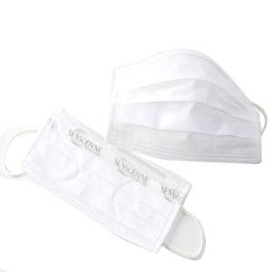 Madson Brindes - Máscara descartável em TNT branco, com embalagem personalizável.