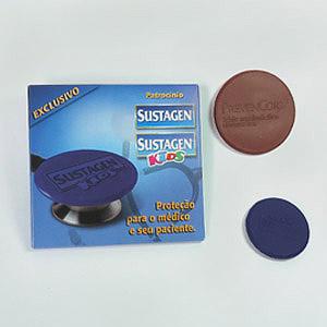 Protetor de Estetoscópio em silicone, personalizável em relevo.
