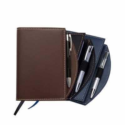 o-medico-das-canetas - Caderneta com Caneta Esferográfica