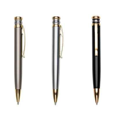 o-medico-das-canetas - Caneta metal inteira colorida com detalhes dourado